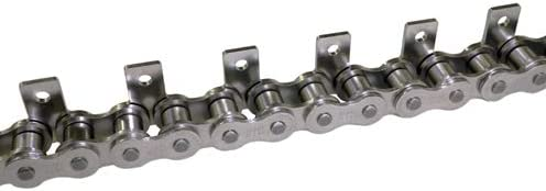 C2060HSS // 1-1//2 in Pitch Riveted Straight 600 Stainless Steel Material SA-1 Attachment Attachment Chain One Side