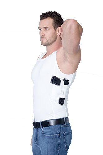 (AC Undercover Men's Compression Concealment Tank Top Shirt Concealed Tactical Clothing CCW Ref. 513 (WHITE, LARGE) )