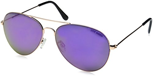 Steve Madden Women's Angela Aviator Sunglasses, Rose Gold, 58 - Madden Steve Sun Glasses