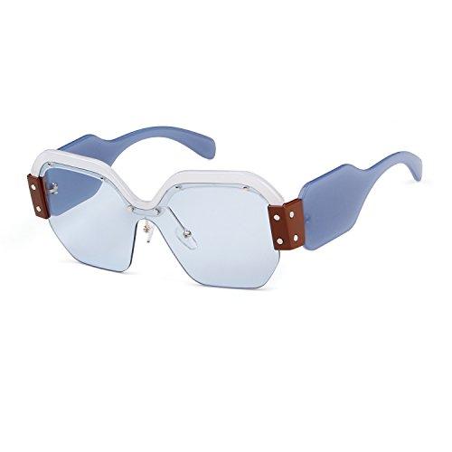 Oversized Sunglasses for Women Semi Rimless Trendy Candy Color Designer Glasses