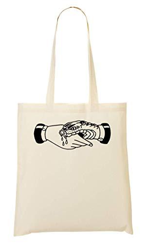shopping Hand Borsa A Artwork Bw di Friend serpente Morsi 8FZqpB