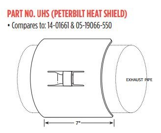 Universal Heat Shield with Bracket- Individually Boxed (Heat Shield Bracket)