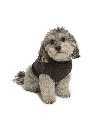 Barefoot Dreams CozyChic Classic Mickey Mouse Pet Sweater, Dog Clothes-Carbon/Black -