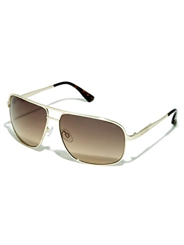 GUESS Factory Men's Double-Bridge Navigator - Guess Case Sunglass