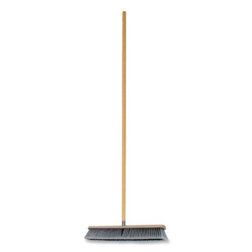 Genuine Joe GJO60467 Polypropylene Heavy Duty Manual Broom with Floor Sweep and Handle, 24