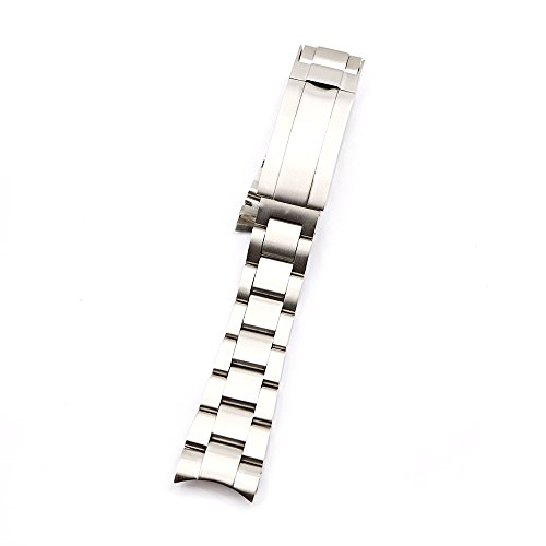 20mm Solid Curved End Screw Links Replacement Watch Band Oyster Bracelet For Deepsea by Generic (Image #2)