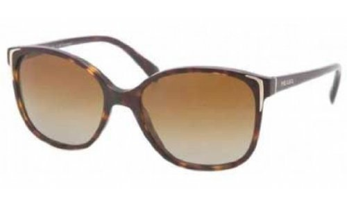 Prada Sunglasses - PR01OS / Frame: Havana Lens: Polar Brown Gradient (Cat Prada Glasses Eye Frames)