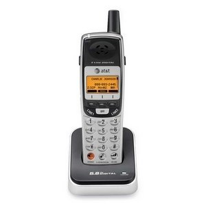 AT&T TL76008 5.8GHz 2-Line Digital Cordless Expansion Handset (Titanium and Metallic Charcoal) by AT&T