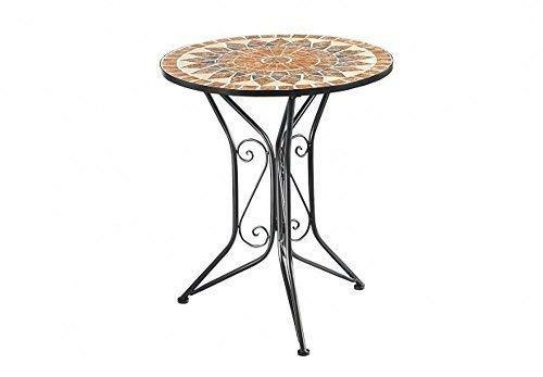 g2036: Mosaico tavolo da giardino castello, TAVOLO METALLO STILE COUNTRY, Mosaico tavolo Linoows