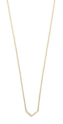 14k Gold Chevron (EF Collection 14k Gold Diamond Mini Chevron Necklace)