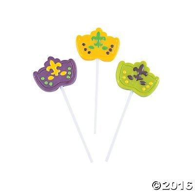 Mardi Gras Mask Suckers - 12 ct (Mardi Gras Treats)