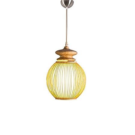HNBY Lámpara de bambú de la rota, balcón Luz de techo Barra que ...