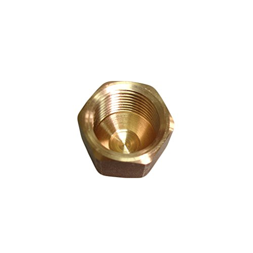 (NIGO Brass Tube Fitting, SAE 45 Degree Flare Fitting, Cap Nut (3/8