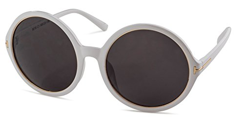 Shiny White Frame/Grey Lens Stylle - Stylle Sunglasses