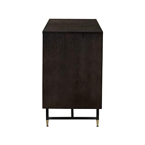 Farmhouse Buffet Sideboards Gatsby Oak Wood Dining Buffet, Cabinet Credenza, Storage, 66″ Wide, Dark Grey farmhouse buffet sideboards