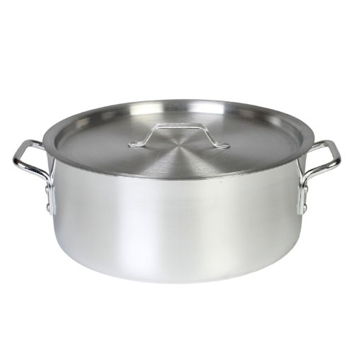 Thunder Group 12 Quart Aluminum Braiser with Lid