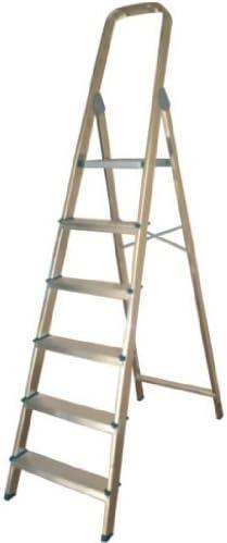Altipesa 8421446003066 Escalera taburete Aluminio escalera - Escalera de mano: Amazon.es: Bricolaje y herramientas