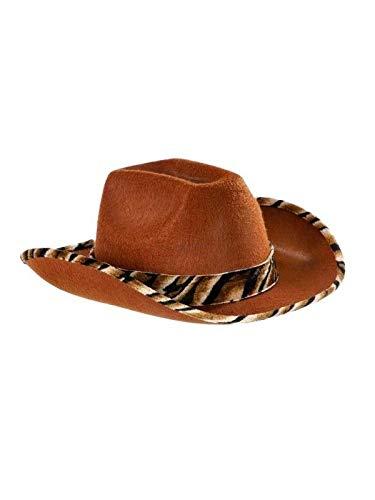 3203946b31229 DISBACANAL Sombrero Vaquero Piel de Serpiente - Negro  Amazon.es  Juguetes  y juegos