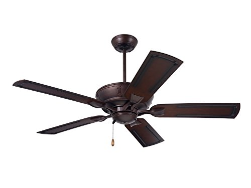 Emerson Ceiling Fans CF610VNB Wet Rated Welland Indoor Outdoor Ceiling Fan with 54-inch Blades, Venetian Bronze Finish - Medium Antique Brown Blades