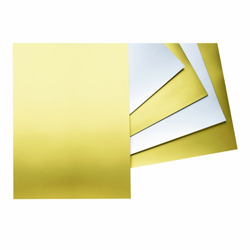 Riverside Paper 54981 Colored 4-ply Poster Board, 22 x 28, Gold On One Side, 25 ()
