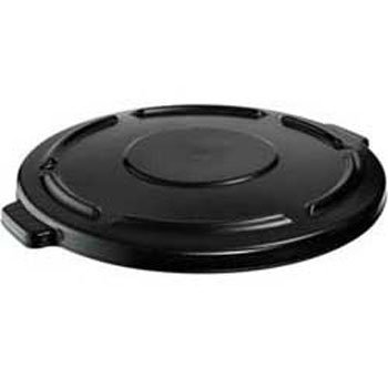 - Rubbermaid FG264560BLA BRUTE Flat Lid for 44 gal Round Containers, Black