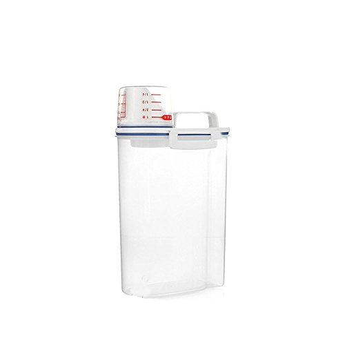 Orcbee  _2L Plastic Cereal Dispenser Storage Box Kitchen Food Grain Rice Container