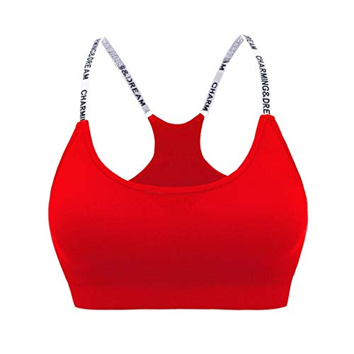 POQOQ Women Removable Padded Sports Bras Medium Support Work