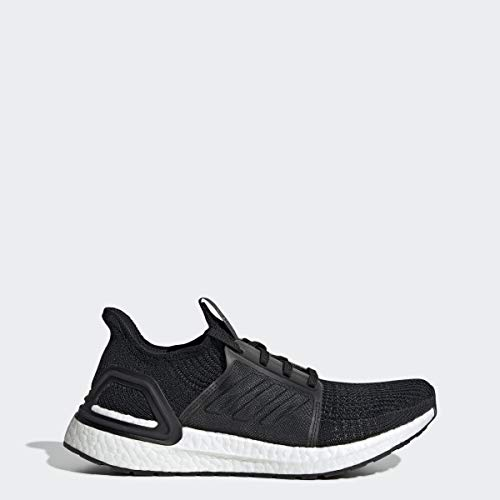 adidas Women's Ultraboost 19 Running Shoe, Black/Grey/Solar Orange, 7.5 M US