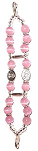 Hidden Hollow Beads Women's Medical Alert ID Interchangeable Replacement Bracelet, Identification Vital info tag