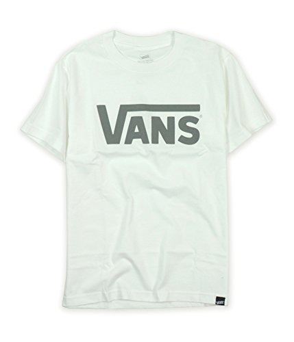 (Vans Men Classic Logo T-Shirt (XXL, White/Charcoal))