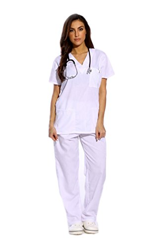 Just Love Women's Scrub Sets Six Pocket Medical Scrubs (V-Neck Cargo Pant)