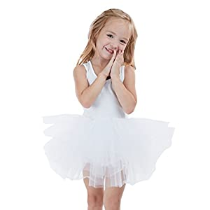Girls' Camisole Dance Tutu Leotard With Fluffy 4-Layers Ballet Dress For Dance, Gymnastics and Ballet 2-8 Years