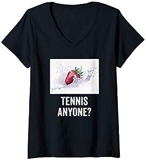 Womens Tennis anyone , tennis grand slam fan t-shirt V-Neck T-shirt | Size S - 5XL