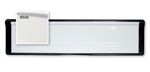 1 x White PostPort 10' Inch Letterplate for Midrail or Doors (40-80mm) - Other sizes available Post Port