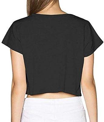 Jamaican American Flag Jamaica USA Women Basic Short Sleeve Crop Top Cotton Scoop Neck Shirt Black