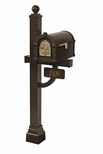 Gaines - Fleur De Lis Keystone Series Custom Mailbox Set (Bronze/Polished Brass)