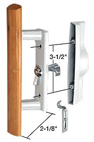 C.R. LAURENCE C1194 CRL Wood/White Internal Lock Handle Set 3-1/2
