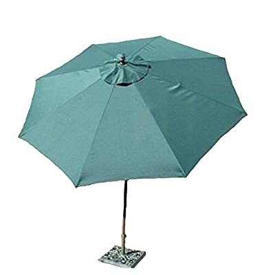 Formosa Covers 9ft aluminum market umbrella crank & tilt color Hunter Green - 9ft aluminum market umbrella in Hunter Green Aluminum frame with Powder coated Bronze finish Crank & Tilt function for easy open and close - shades-parasols, patio-furniture, patio - 31xkZmigszL. SS400  -