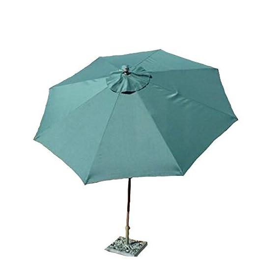 Formosa Covers 9ft aluminum market umbrella crank & tilt color Hunter Green - 9ft aluminum market umbrella in Hunter Green Aluminum frame with Powder coated Bronze finish Crank & Tilt function for easy open and close - shades-parasols, patio-furniture, patio - 31xkZmigszL. SS570  -