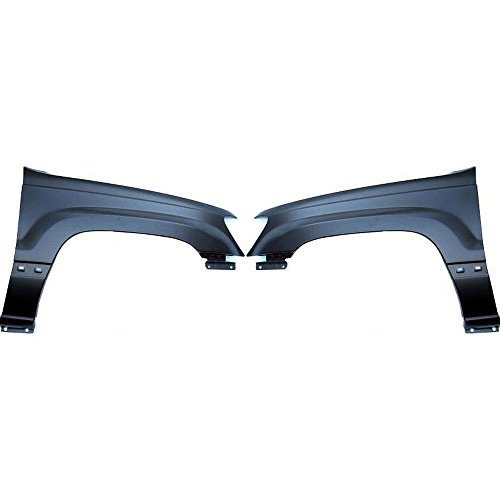 Diften 110-C2659-X01 - CAPA Fenders Front Quarter Panels Set of 2 Left & Right Side LH RH Jeep Pair