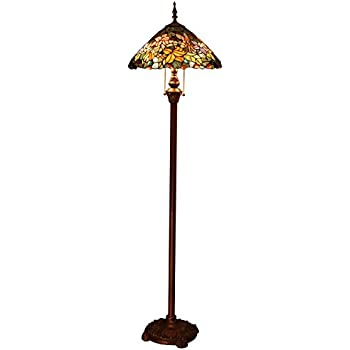 Bieye L10556 16 Inches Flower Fairy Tiffany Style Stained Glass Floor Lamp Amazon Com