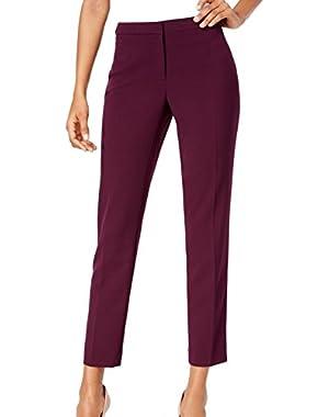 Women's Petite Straight Leg Dress Pants Purple 8P