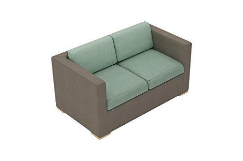 Harmonia Living HL-ELE-TP-LS-SP Element Sling Loveseat with Canvas Spa Cushions