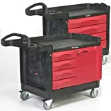Plastic and Structural Foam Trademaster Mobile Cabinets and Work Centers - 38-1/4''h x 26-3/8''w x 58-3/8''l, Black / Red