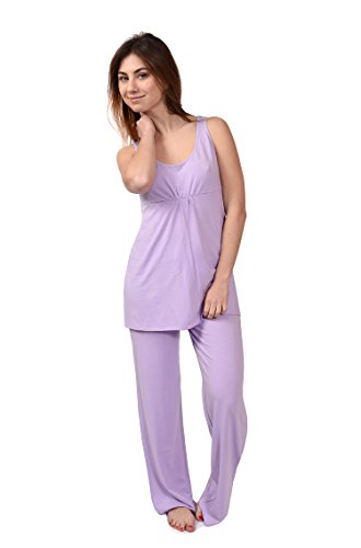 Women's Pajama Sleep Set Sleeveless Bamboo Pajamas