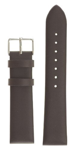 Men's Classic Glove Leather Watchband Brown 18mm Watch Band
