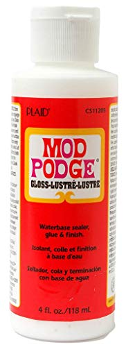 Mod Podge Waterbase Sealer, Glue & Finish (4 Oz), CS11205 Gloss Finish