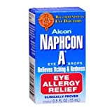Alcon Naphcon-A Allergy Relief Eye Drops .5 oz. (3-Pack)