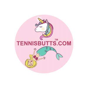 Tennis Butts - Fun Racket Decal That Starts Your Match Off with a Laugh! Perfect Tennis Gift (Unicorn or Mermaid)