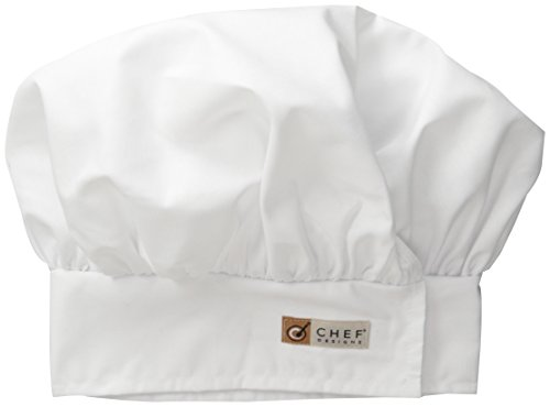 (Red Kap Chef DesignsChef Hat, White, Large)